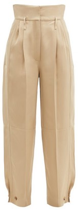 Givenchy High-rise Buttoned-cuff Straight-leg Trousers - Beige