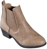 Camel Low Western Ankle Boot