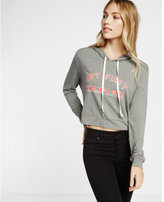 Express one eleven first champagne cropped hoodie