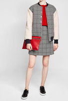 Carven Printed Jacket with Textured Sleeves