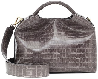 Elleme Raisin croc-effect shoulder bag