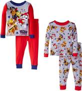 Nickelodeon Paw Patrol Little Boys' Rescue Coming 4-Piece Pajama Set