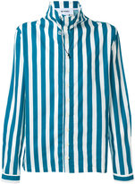 Sunnei neck toggle striped shirt