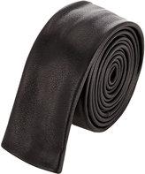 Saint Laurent Men's Leather Necktie-BLACK