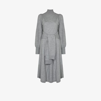 Ulla Johnson Astrid High Neck Wool Sweater Dress
