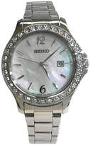 Seiko Stainless Steel with Crystal Embellishment Women's watch #SXDF85