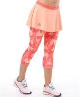 adidas Womens Club Trend ClimaCool 2 in 1 Tennis Skort Leggings Sun Glow/Shock Red