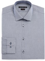 John Varvatos Mini Window Check Slim Fit Dress Shirt
