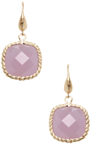 Rivka Friedman Faceted Lavender Chalcedony Crystal Drop Earrings