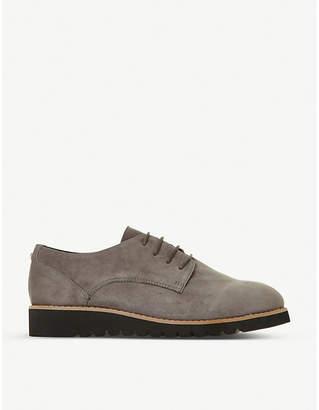 Dune Flinch suede Derby platform shoes