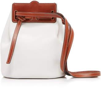 Loewe Ruk Two-Tone Leather Bucket Bag