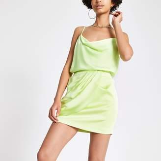 River Island Womens Green wrap mini skirt