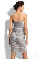 Monique Lhuillier Bridesmaids Ruched Strapless Cationic Chiffon Dress (Nordstrom Exclusive)