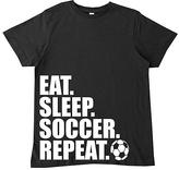 Micro Me Black 'Eat.Sleep.Soccer.Repeat' Tee - Toddler & Girls