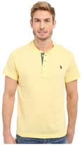 U.S. Polo Assn. Slim Fit Textured Henley T-Shirt