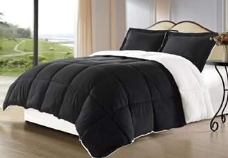 Cozy Beddings Borrego Twin Size 2 Piece Color Down Alternative Comforter Set/Blanket with Pillow Shams