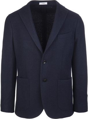 Boglioli Man Navy Blue Jacket In Wool Blend