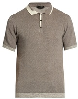 Etro Knitted cotton and cashmere-blend polo shirt