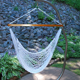 Algoma Net Company Rope Polyester Chair Hammock with Stand
