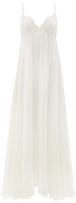 Carine Gilson Dancer Lace-trimmed Silk-georgette Slip Dress - Ivory
