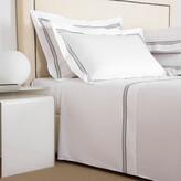 Thumbnail for your product : Frette Triplo Popeline Flat Sheet Set - Super King - White/Slate Grey