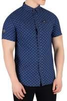 Superdry Men's Indigo Riveter Shortsleeved Shirt, Blue