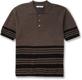Striped Merino Wool-Blend Polo Shirt