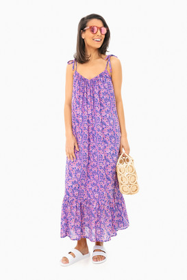 India Collection By Emerson Fry Violet Wildflower India Sundress