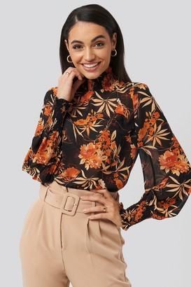 NA-KD Flowy Flower Printed Blouse Multicolor