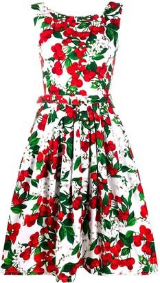 Samantha Sung Cherry Print Flared Dress