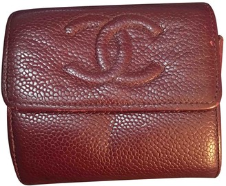 Chanel Burgundy Leather Purses, wallets & cases