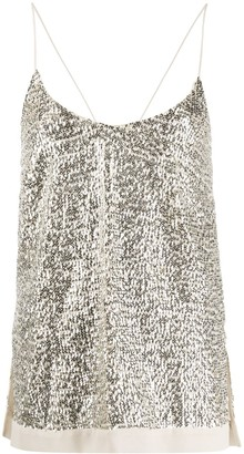 Semi-Couture Sequin Embellished Top