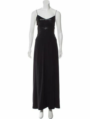Narciso Rodriguez Silk Embellished Dress Black