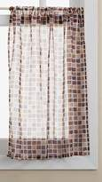Lorraine Home Fashions Tiles Tailored Valance, 54 by 12-Inch, Beige/Black