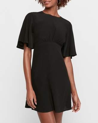 Express Open Back Flutter Sleeve Dress