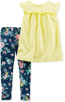 Carter's 2-Pc. Tunic & Floral-Print Leggings Set, Baby Girls (0-24 months)