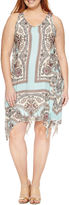 U-NI-TY Sleeveless Woven Sheath Dress-Plus