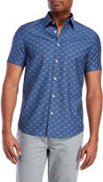 Ben Sherman Short Sleeve Stretch Clip Derby Woven Shirt