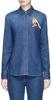 Stella McCartney Bird embroidered denim shirt