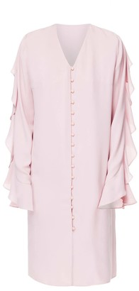 Diana Arno Flo Long Sleeve Midi Dress In Blossom Pink
