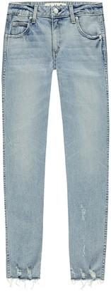 Amo Stix Crop Distressed Hem Jeans