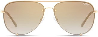 Quay High Key 65mm Oversize Rimless Aviator Sunglasses