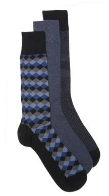 Cole Haan Diamond Men's Crew Socks - 3 Pack