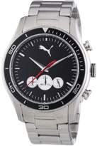 Puma Time Men's Quartz Watch Ride Chrono Metal- L Silver PU102581004 with Metal Strap