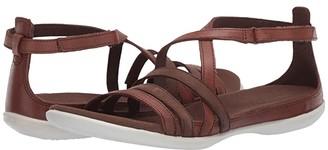 Ecco Summer Cross Strap Sandal (Black/Black Cow Nubuck/Cow Leather) Women's Shoes