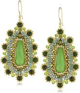 Miguel Ases Jade Tear Drop Earrings