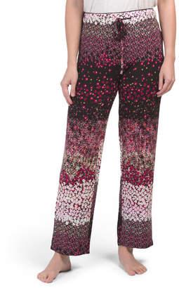 Mixed Print Pajama Pants