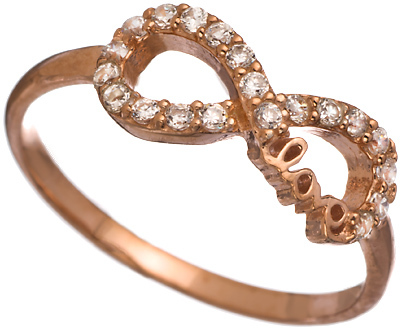Blee Inara Rose Gold and CZ Infinity Ring