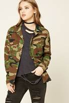 Forever 21 FOREVER 21+ Camouflage Army Jacket