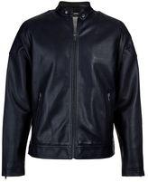 Burton Burton Black Pu Racer Biker Jacket
